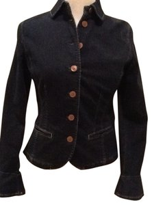 Lauren by Ralph Lauren Navy Blue Jean Jacket