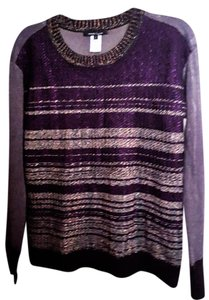 Nanette Lepore Metallic Knit Fall Casual Wool Sweater
