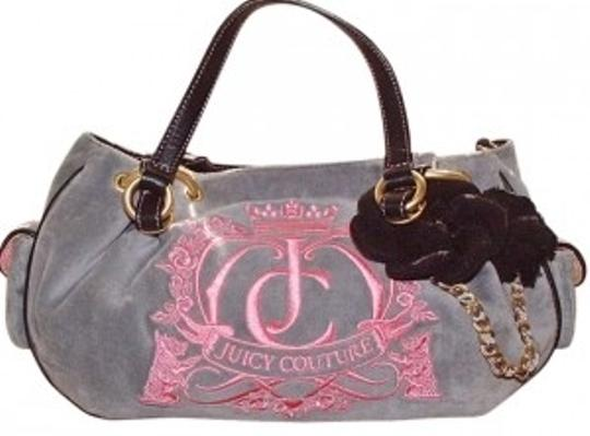 Preload https://item1.tradesy.com/images/juicy-couture-satchel-purse-handbag-gray-and-pink-polyster-blend-shoulder-bag-171775-0-0.jpg?width=440&height=440