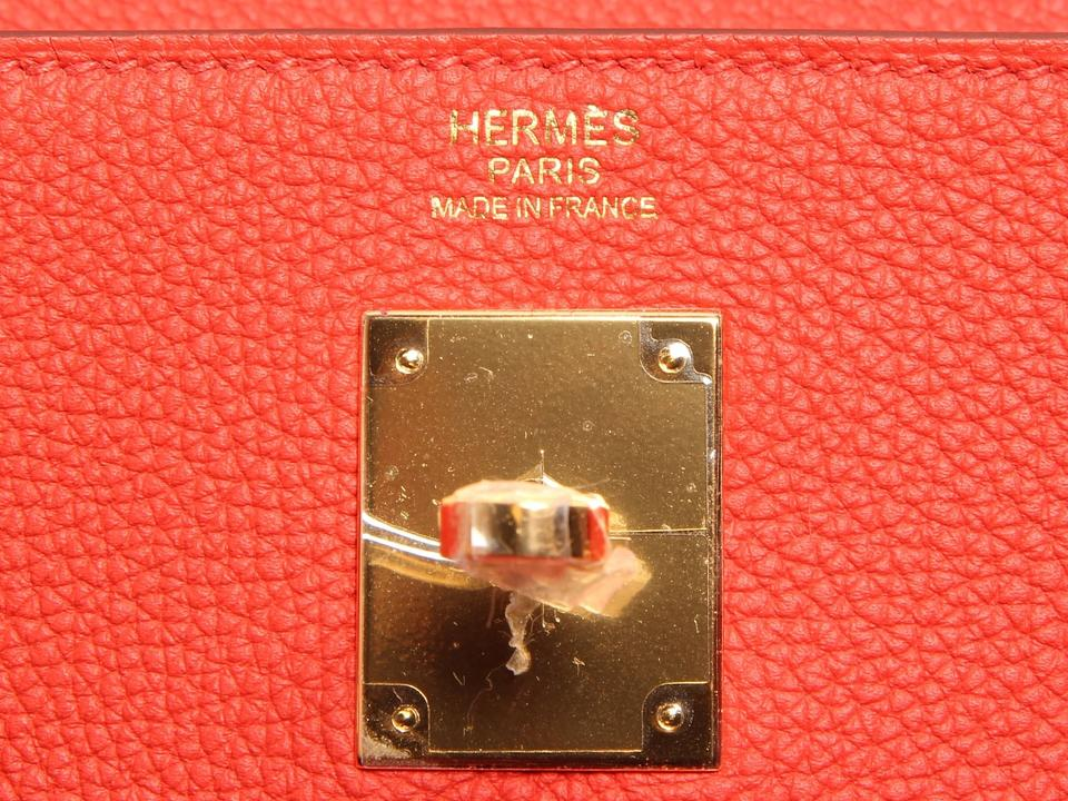 Hermès 32 Leather Satchel Capucine Togo Kelly rPxUqr