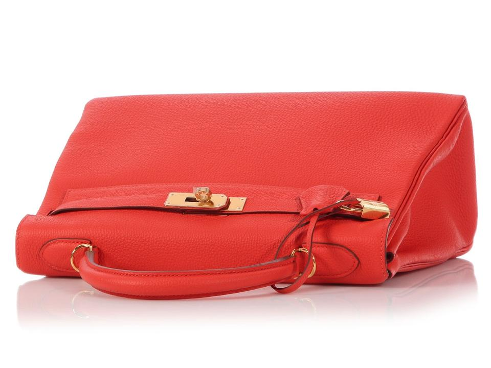 4579fbbef5cc1 Hermès Kelly  sold On Ebay kelly 32 Togo Capucine Red Calfskin ...