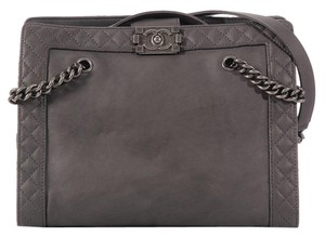 Chanel Ch.k0523.06 Distressed Leather Antiqued Silver Tote