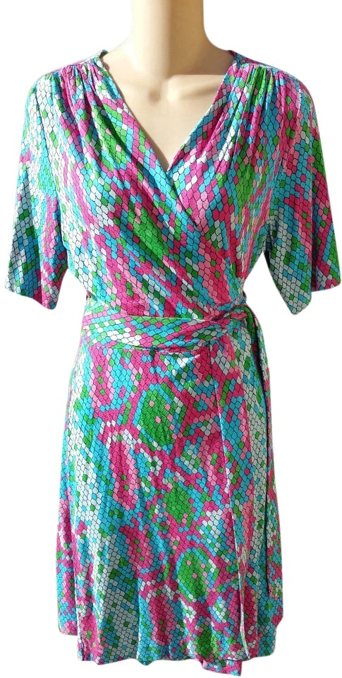 357afe516c03d8 Lilly Pulitzer Multi-colored Adalie Wrap Show Me Some Skin Cocktail Dress