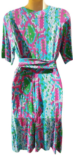 Lilly Pulitzer Wrap Snake Print Colorful Summer Dress Image 2