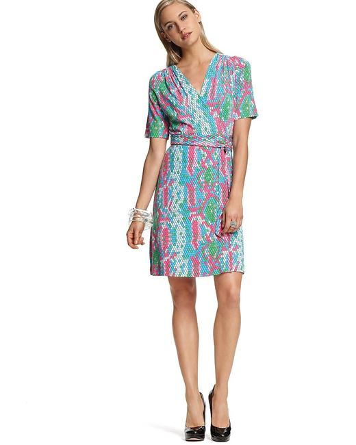 Lilly Pulitzer Wrap Snake Print Colorful Summer Dress Image 3