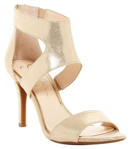 Jessica Simpson Metallic Gold Powder Pink-Gold Pumps