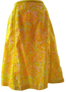 Lilly Pulitzer Vintage The Mini Skirt Yellow