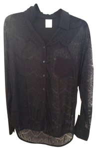 Ella Moss Button Down Shirt Black