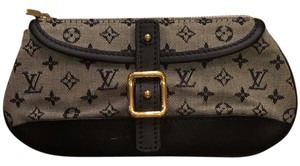 Louis Vuitton Navy Clutch