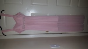 Connected Apparel Peach Bridesmaid/Mob Dress Size 12 (L)