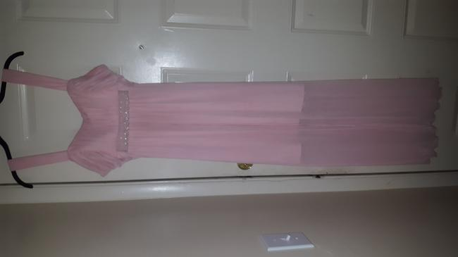 Connected Apparel Peach Bridesmaid/Mob Dress Size 12 (L) Connected Apparel Peach Bridesmaid/Mob Dress Size 12 (L) Image 1