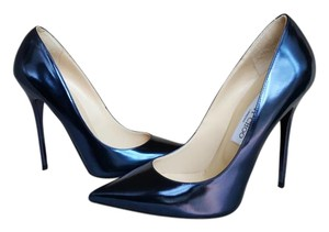 Jimmy Choo Anouk Blue Pumps