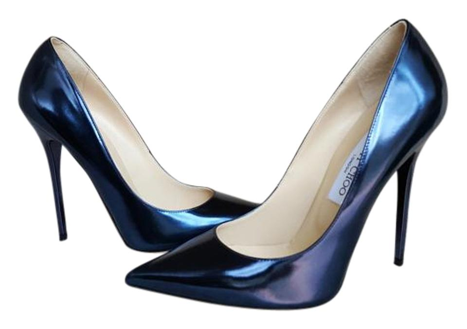 454f7fc9d1 Jimmy Choo Blue Anouk Pumps Size US 9 Regular (M, B) - Tradesy