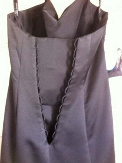 Alfred Angelo Black Polyester 7041 Modern Bridesmaid/Mob Dress Size 6 (S)