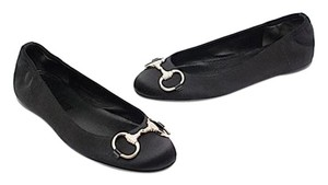 Gucci Black Satin Flats