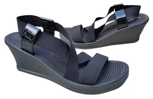Skechers Comfortable Wedge Sandal BLACK Sandals