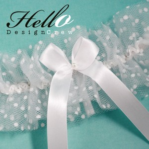 Brand New White Tulle Bridal Garter
