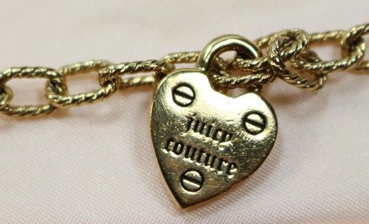 Juicy Couture Authentic Juicy Couture Adjustable Gold Tone Starter Bracelet Heart YJRU2906 NEW