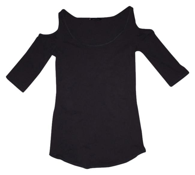 Item - Gray Shoulder Cut Out Tee Shirt Size 4 (S)
