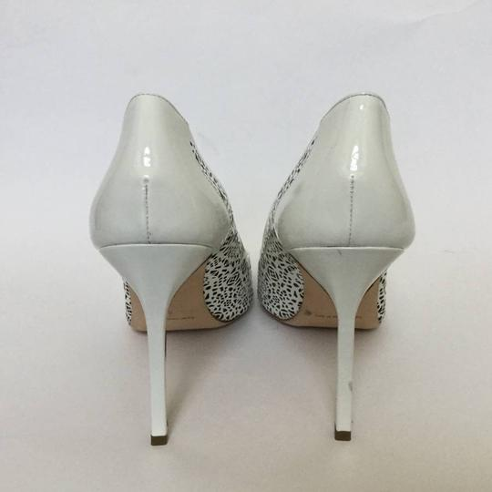 Manolo Blahnik Patent Leather Stiletto Pointed Toe Laser Never Worn White Pumps Image 2