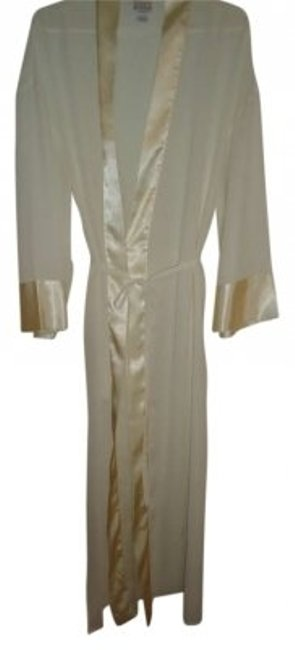 Cream Maxi Dress by Bare Luxury L/Xl Full Length Chiffon Wrap Robe Elegance