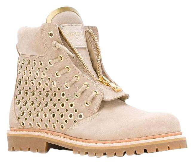 Item - Beige Tia Tundra Suede Tan Gold Perforated Ankle 36.5 Boots/Booties Size US 6.5 Regular (M, B)