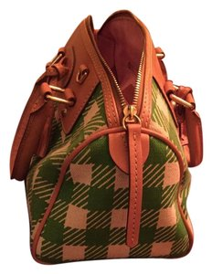 Dooney & Bourke Tote in Green plaid checkered