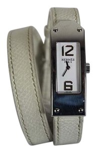 Hermès Hermes Kelly II Double Tour Strap White Leather Watch Kt1.210