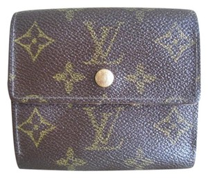 Louis Vuitton SALE: Bi-Face 2in1 Elise Double Snap Credit Card Cash Coin Check ID