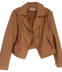 Forever 21 Leather Rose Leather Jacket