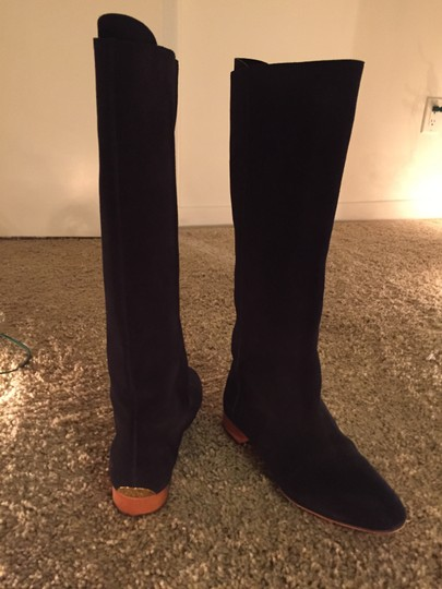 Chloé Suaede Chloe Knee - High Navy Boots