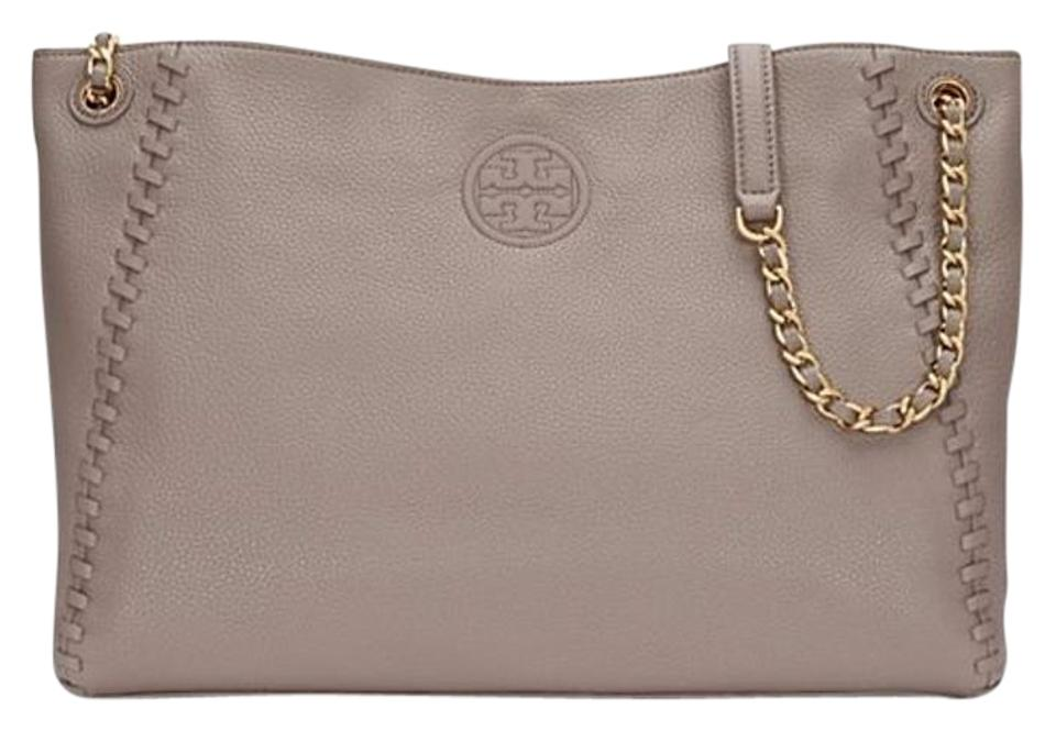 e2c4b440ffd Tory Burch Marion Chain-shoulder Slouchy French Gray Tote - Tradesy