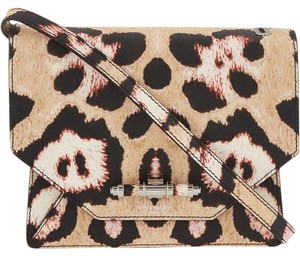 Givenchy Animal Print Black Tan Cross Body Bag