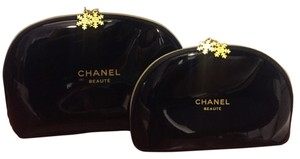 Chanel Chanel Set of 2 (Medium and Large) Snowflake Cosmetic Bags NWOT