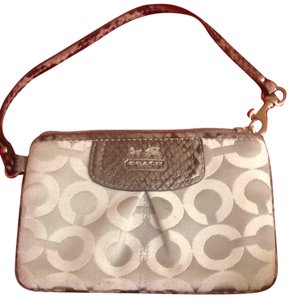 Coach Wristlet in Light Gray