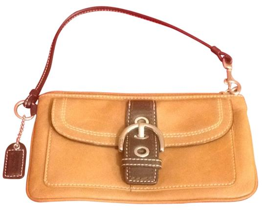 Preload https://item4.tradesy.com/images/coach-wristlet-camel-and-chocolate-brown-1718228-0-0.jpg?width=440&height=440