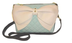 Betsey Johnson Bone Bow Mint Cross Body Bag