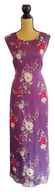 Purple Maxi Dress by Other Silk Floral Maxi Image 0