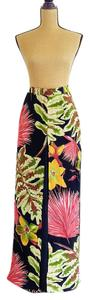 Cache Palazzo Floral Layered Flowy Wide Leg Pants Multicolored
