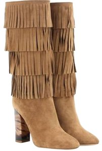 Burberry Suede Fringe Sale Clearance brown Boots