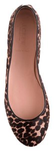 J.Crew Ballet Animal Print Calf Hair Flats