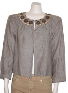Michael Kors Lined Art Deco BEIGE Jacket