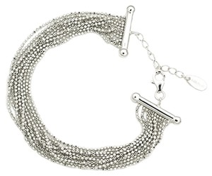 MBLife NEW Silver Beads Dangling Style 925 Sterling Silver Bracelet (6.5