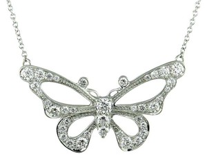 Tiffany & Co. Rare Platinum Diamond Tiffany & Co. Enchant Butterfly Pendant Necklace