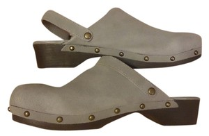 Lands End Heather gray Mules