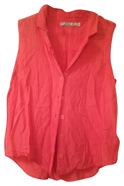 Preload https://item5.tradesy.com/images/chloe-k-coral-high-low-flowy-buttoned-loop-button-down-top-size-8-m-1718639-0-0.jpg?width=400&height=650