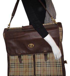 Burberry Vintage Leather Classic beige Travel Bag