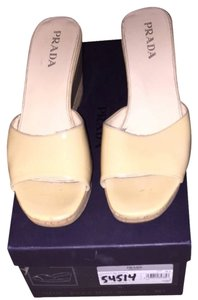 Prada Nude (patent Leather) Sandals