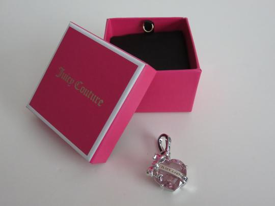 Juicy Couture New Juicy Couture Silver Tone And Pink Stone Heart Banner Charm