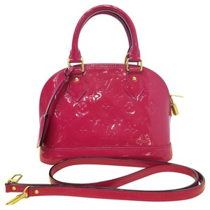 Louis Vuitton Lv Vernis Alma Bb Tote Satchel in indian pink